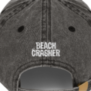Black Beach Crasher Stonewashed Cap