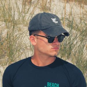 Navy Beach Crasher Stonewashed Cap