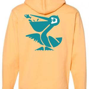Citrus Orange Beach Crasher Tri-blend Sweatshirt