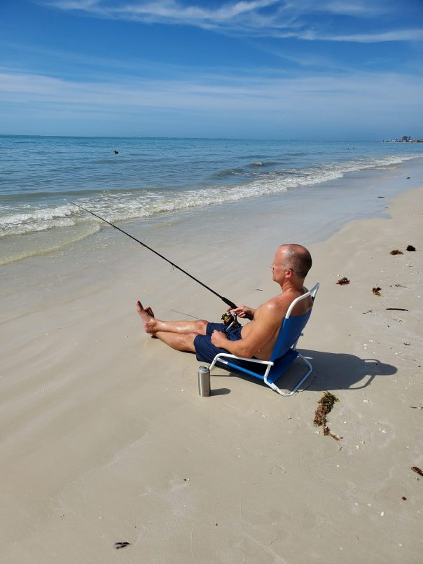 Ft. Myer's Beach surf fishing & sun...