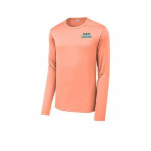 Coral Beach Crasher Sport-Tek UV Long Sleeve Tee
