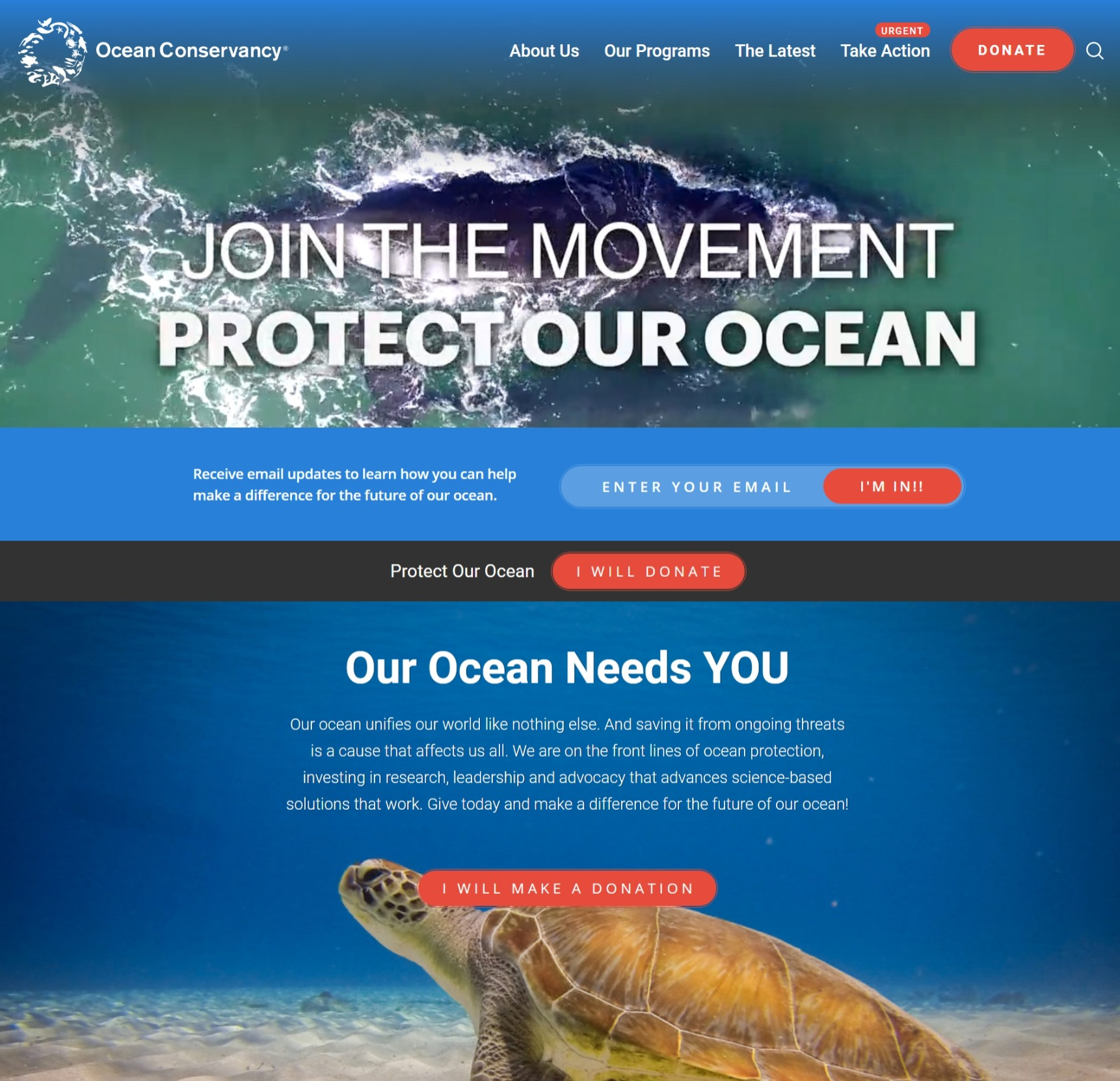 Keep our oceans and beaches…