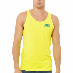 Neon Yellow Beach Crasher Tank Top