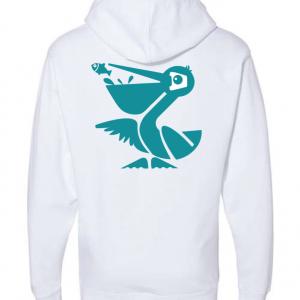 White Beach Crasher Tri-blend Sweatshirt
