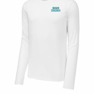 White Beach Crasher Sport-Tek UV Long Sleeve Tee